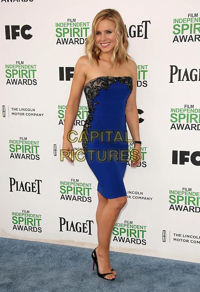 SANTA MONICA, CA - March 01: Kristen Bell at the 2014 Film Independent Spirit Awards Arrivals, Santa Monica Beach, Santa Monica,  March 01, 2014. Credit: Janice Ogata/MediaPunch<br /> CAP/MPI/JO<br /> &copy;JO/MPI/Capital Pictures
