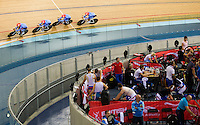 05 DEC 2014 - STRATFORD, LONDON, GBR - The team from Argentina (ARG) race round the track during qualifying for the Men's Team Pursuit at the 2014 UCI Track Cycling World Cup at the Lee Valley Velo Park in Stratford, London, Great Britain (PHOTO COPYRIGHT © 2014 NIGEL FARROW, ALL RIGHTS RESERVED)