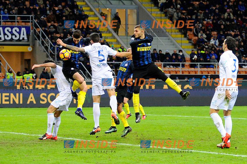 Occasione gol di Roberto Gagliardini Inter<br /> Milano 14-01-2017 Stadio Giuseppe Meazza - Football Calcio Serie A Inter - Chievo Verona. Foto Giuseppe Celeste / Insidefoto