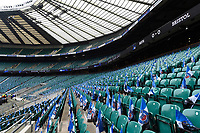 A general view of Twickenham Stadium prior to the match. Gallagher Premiership match, The Clash, between Bath Rugby and Bristol Rugby on April 6, 2019 at Twickenham Stadium in London, England. Photo by: Patrick Khachfe / Onside Images