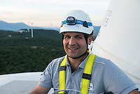 TURKEY, Bakir, 35 MW wind farm GOEKRES 2 of company Gama Enerji with General Electric GE wind turbines / TUERKEI, Bakir, 35 MW Windpark GOEKRES 2 der Gama Enerji mit GE Windkraftanlagen
