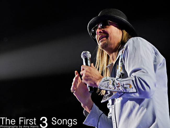 """Kid Rock performs during his 40th birthday celebration and start of his """"Born Free"""" tour at Ford Field in Detroit, Michigan."""