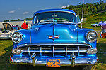 Nice 54 Chevy Bell air at custom car show at Mineral Beach in Finleyville PA. near Pittsburgh.