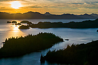 Western shore islands of Knight Island, Prince William Sound, Kenai mountains, Chugach national forest, Alaska