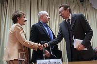 BRASILIA, DF, 23 DE ABRIL DE 2013  - GUIDO MANTEGA CONCEDE ENTREVISTA COM EDSON LOBAO -  O Ministro de Minas e Energia Edson Lobao durante coletiva de imprensa, na tarde desta treca-feira,23, em Brasilia capital do Distrito Federal. FOTO  RONALDO BRANDAO / BRAZIL PHOTO PRESS.