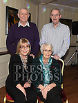 kathleen O'Brien celebrating her 90th birthday in The Pheasant with sons Paul and Tony and Daughter Anne. Photo:Colin Bell/pressphotos.ie