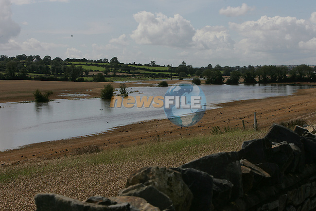 The River Nanny thats usually about 8 to 10 feet wide and about 2 foot deep showing at about 80/100 meters wide as the flood waters cover crop fields between Duleek and Laytown in Co Meath.Photo: Fran Caffrey/ Newsfile.