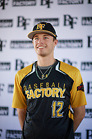 Tyler Wade (12) of Midland High School in Midland, Texas during the Baseball Factory All-America Pre-Season Tournament, powered by Under Armour, on January 12, 2018 at Sloan Park Complex in Mesa, Arizona.  (Zachary Lucy/Four Seam Images)