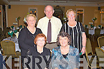 SUPPORTERS: Enjoying the Kerry Supporters Club annual dinner at the Ballygarry House hotel and Spa on Saturday Tess Fitzgerald, Fenit and Mary Ryan, Dublin. Back l-r: Sheila King, Fenit, John Ryan, Dublin and Eileen King, Fenit.