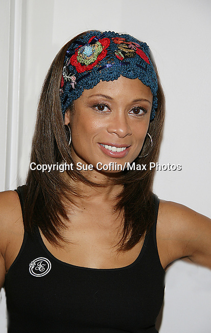 "Actress Valarie Pettiford - OLTL - original ""Sheila Price Gannon"" and on Another World and Broadway's Fosse as she shows off Jane Elissa's Hats for Health which are available through Jane at www. hats for health.com and such locations as the Marriott Marquis Hotel, NYC during various weekends with a portion of the sales donated to charitable causes through Jane Elissa/Charlotte Meyers Endowment Fund one of which is the Leukemia & Lymphoma Society. (Photo by Sue Coflin/Max Photos)"