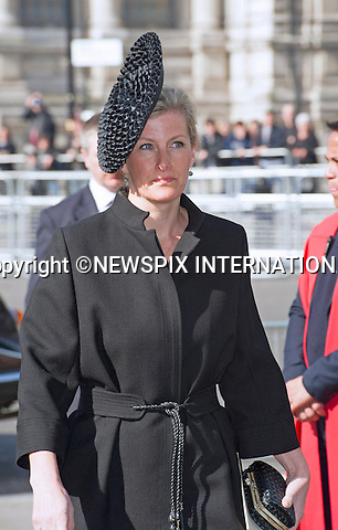 SOPHIE, COUNTESS OF WESSEX<br /> attends Sir David Frost Memorial, Westminster Abbey, London_13/03/2014<br /> Mandatory Credit Photo: &copy;Dias/NEWSPIX INTERNATIONAL<br /> <br /> **ALL FEES PAYABLE TO: &quot;NEWSPIX INTERNATIONAL&quot;**<br /> <br /> IMMEDIATE CONFIRMATION OF USAGE REQUIRED:<br /> Newspix International, 31 Chinnery Hill, Bishop's Stortford, ENGLAND CM23 3PS<br /> Tel:+441279 324672  ; Fax: +441279656877<br /> Mobile:  07775681153<br /> e-mail: info@newspixinternational.co.uk