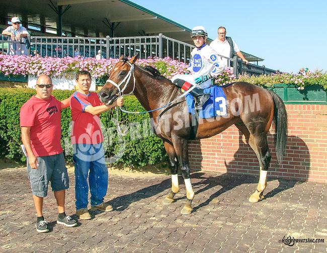 Manado winning at Delaware Park on 9/7/15