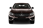 Car photography straight front view of a 2018 Mercedes Benz GLC Coupe 350 e 5 Door SUV