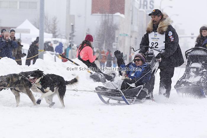 Mike Santos Saturday, March 3, 2012  Ceremonial Start of Iditarod 2012 in Anchorage, Alaska.