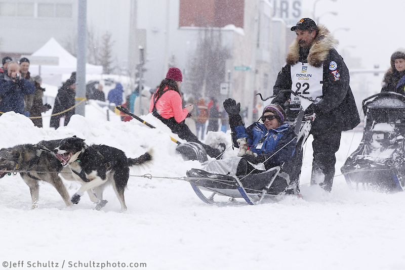 Mike Santos Saturday, March 3, 2012  Ceremonial Start of Iditarod 2012 in Anchorage, Alaska.