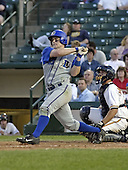 May 10, 2004:  Matt Diaz of the Durham Bulls, International League (AAA) affiliate of the Tampa Bay Devil Rays, during a game at Frontier Field in Rochester, NY.  Photo by:  Mike Janes/Four Seam Images