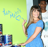 NEW YORK, NY-July 20, 2012: Lea Michele and Valspar Paint unveil the Celebrity Handprints to be Auctioned for Habitat for Humanity at Hearst Tower in New York City. © RW/MediaPunch Inc. /*NORTEPHOTO.com* **SOLO*VENTA*EN*MEXICO** **CREDITO*OBLIGATORIO** *No*Venta*A*Terceros* *No*Sale*So*third* ***No*Se*Permite*Hacer Archivo***No*Sale*So*third*©Imagenes*