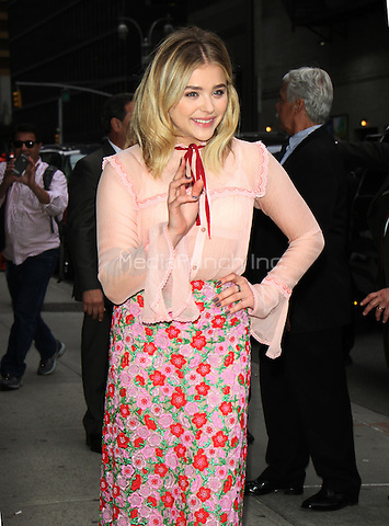 05 10, 2016: Chloe Grace Moretz at The Late Show with Stephen Colbert to talk about her new movie Neighbors 2: Sorority Rising in New York. Credit:RW/MediaPunch