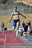 Charlotte Smith in action during the Athletics - NZ Track and Field Championships at Newtown Park, Newtown, New Zealand on Friday 6 March 2015. <br /> Photo by Masanori Udagawa. <br /> www.photowellington.photoshelter.com.
