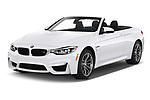 2020 BMW M4 Base 2 Door Convertible angular front stock photos of front three quarter view