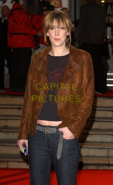 BETH ORTON.The 2006 Brit Awards with Mastercard at Earls Court, London, UK..February 15th 2006.Ref: BEL.half length brown leather jacket brits.www.capitalpictures.com.sales@capitalpictures.com.© Capital Pictures.