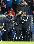 Owen Coyle berates the officials as Graeme Murty checks his watch
