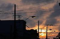 MOGI DAS CRUZES,SP,24 DE FEVEREIRO DE 2012,CLIMA TEMPO MOGI DAS CRUZES SP,Por do Sol é visto em Mogi das Cruzes apos chuva fraca emoldurando a igreja Matiz na cidade nesta sexta 24,FOTO:WARLEY LEITE-BRAZIL PHOTO PRESS