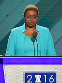 Reverend Leah D. Daughtry, CEO, 2016 Democratic National Convention Committee, makes remarks at the 2016 Democratic National Convention at the Wells Fargo Center in Philadelphia, Pennsylvania on Monday, July 25, 2016.<br /> Credit: Ron Sachs / CNP<br /> (RESTRICTION: NO New York or New Jersey Newspapers or newspapers within a 75 mile radius of New York City)