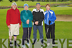 CLASSIC: Mixed doubles at the Oyster Tavern Golf Classic at Ardfert Golf Club, on Saturday, Pat O'Connor (Castlegregory), Kathleen Houlihan (Ardfert), Tony Lyons (Castlegregory) and Mary Quillinan (Ardfert Lady Capt).....