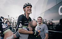 Serge Pauwels (BEL/Dimension Data) shares in the joy at the teambus post-race for teammates Boasson Hagen's stag ewin<br /> <br /> 104th Tour de France 2017<br /> Stage 19 - Embrun &rsaquo; Salon-de-Provence (220km)
