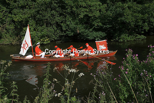 Swan Upping. The River Thames, near Windsor Berkshire England 2007.