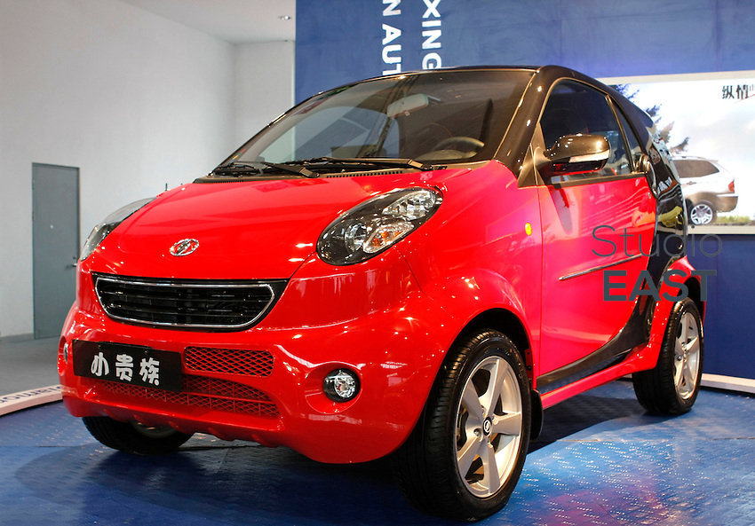 China's Hong Xing 6300 car is on display on Auto China 2008 auto show in Beijing on April 21, 2008. The Hong Xing 6300 car looks like Mercedes-Benz's Smart car. Auto sales in China are booming, with analysts and automakers forecasting growth at 15-20 percent this year. But demand for the biggest vehicles is even stronger, with sales of luxury cars and SUVs expected to surge by 40-45 percent. Photo by Frieder Hohnholz/Pictobank