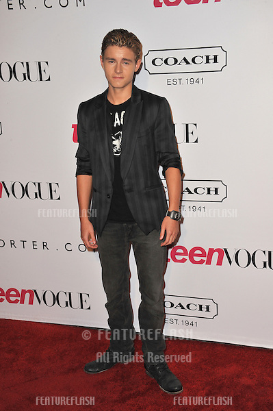 Callan McAuliffe at the 9th Annual Teen Vogue Young Hollywood Party at Paramount Studios, Hollywood..September 23, 2011  Los Angeles, CA.Picture: Paul Smith / Featureflash