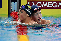 ROMANCHUK Mykhailo UKR Gold Medal , CHRISTIANSEN Henrik NOR Bronze MEdal <br /> Men's 1500m Freestyle <br /> Hangh Zhou 16/12/2018 <br /> Hang Zhou Olympic & International Expo Center <br /> 14th Fina World Swimming Championships 25m <br /> Photo Andrea Staccioli/ Deepbluemedia /Insidefoto