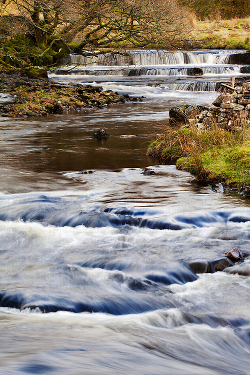 Waterfall in the Clough River Garsdale Yorkshire Dales