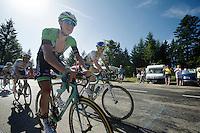 2 belgians (from West-Flanders) Sep Vanmarcke (BEL/Belkin) & Jens Keukeleire (BEL/Orica-GreenEDGE) join forces up the final climb to Chamrousse (1730m/18.2km/7.3%) <br /> <br /> 2014 Tour de France<br /> stage 13: Saint-Etiènne - Chamrousse (197km)