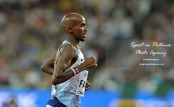 Mo Farah (GBR) in the mens 10,000m. IAAF World athletics championships. London Olympic stadium. Queen Elizabeth Olympic park. Stratford. London. UK. 04/08/2017. ~ MANDATORY CREDIT Garry Bowden/SIPPA - NO UNAUTHORISED USE - +44 7837 394578