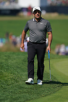Francesco Molinari (ITA) on the 18th green during the 3rd round at the PGA Championship 2019, Beth Page Black, New York, USA. 19/05/2019.<br /> Picture Fran Caffrey / Golffile.ie<br /> <br /> All photo usage must carry mandatory copyright credit (© Golffile | Fran Caffrey)