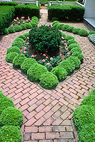 Courtyard Small Space Gardens Stock Photos