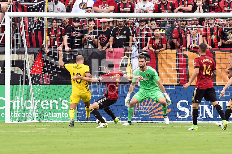 Atlanta, Georgia - Saturday, June 17, 2017: Atlanta United defeated the Columbus Crew,  3-1, in front of the club's sixth consecutive home sellout at Bobby Dodd Stadium.