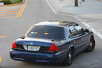 "8 April 2008: Stanford Cardinal police escort vehicle with the license plate ""641 ICE"" during Stanford's 64-48 loss against the Tennessee Lady Volunteers in the 2008 NCAA Division I Women's Basketball Final Four championship game at the St. Pete Times Forum Arena in Tampa Bay, FL."
