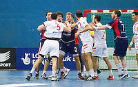 06 APR 2012 - LONDON, GBR - Players get heated during the men's 2012 London Cup match between Great Britain and Tunisia at the National Sports Centre in Crystal Palace, Great Britain .(PHOTO (C) 2012 NIGEL FARROW)