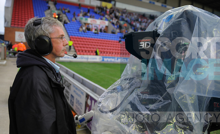 A Sky 3D cameraman with his camera prepares for the game