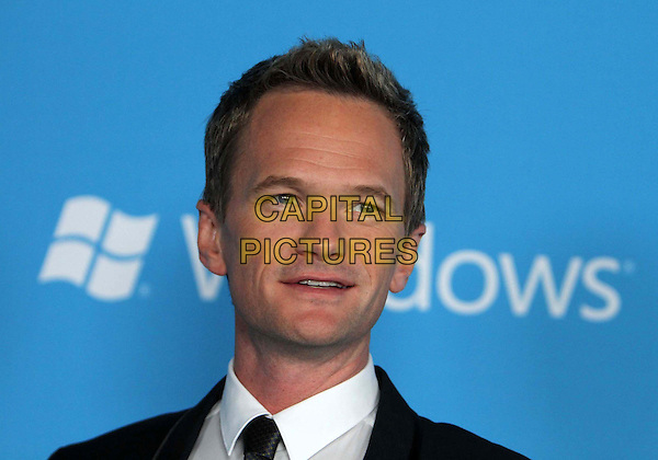 Neil Patrick Harris.CBS 2012 Fall Premiere Party Held at At Greystone Manor, West Hollywood, California, USA.  .September 18th, 2012.headshot portrait black suit grey gray tie white shirt .CAP/ADM/FS.©Faye Sadou/AdMedia/Capital Pictures.