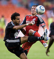 Dwayne De Rosario, Terry Dunfield. D.C. United tied Toronto FC, 3-3, during the game at RFK Stadium in Washington, DC.