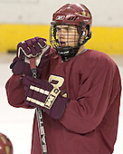Joe Adams - Boston College's morning skate on Friday, December 30, 2005 at Magness Arena in Denver, Colorado.  Boston College defeated Ferris State that afternoon in a shootout and defeated Princeton the following night to win the Denver Cup.