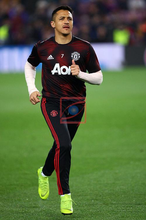 UEFA Champions League 2018/2019.<br /> Quarter-finals 2nd leg.<br /> FC Barcelona vs Manchester United: 3-0.<br /> Alexis Sanchez.