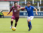 Queen of the South v St Johnstone&hellip;18.08.18&hellip;  Palmerston    BetFred Cup<br />Drey Wright fends off Andrew Stirling<br />Picture by Graeme Hart. <br />Copyright Perthshire Picture Agency<br />Tel: 01738 623350  Mobile: 07990 594431