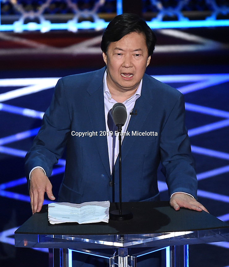 "BEVERLY HILLS - SEPTEMBER 7: Ken Jeong appears onstage at the ""Comedy Central Roast of Alec Baldwin"" at the Saban Theatre on September 7, 2019 in Beverly Hills, California. (Photo by Frank Micelotta/PictureGroup)"