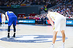 Victor Claver (l) and Jaycee Carroll during Real Madrid vs FC Barcelona final of Supercopa Endesa. September 22, 2019. (ALTERPHOTOS/Francis González)
